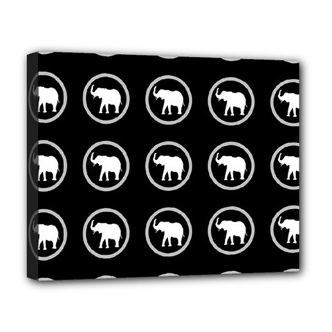 Elephant Wallpaper Pattern Deluxe Canvas 20  x 16