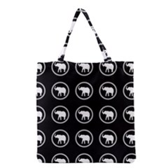 Elephant Wallpaper Pattern Grocery Tote Bag