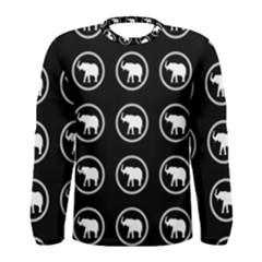 Elephant Wallpaper Pattern Men s Long Sleeve Tee