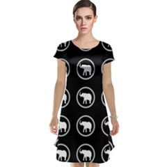 Elephant Wallpaper Pattern Cap Sleeve Nightdress