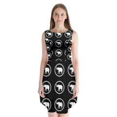 Elephant Wallpaper Pattern Sleeveless Chiffon Dress