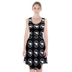 Elephant Wallpaper Pattern Racerback Midi Dress