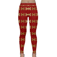 Dog Bone Background Dog Bone Pet Classic Yoga Leggings