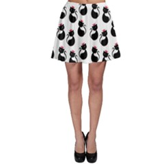 Cat Seamless Animal Pattern Skater Skirt