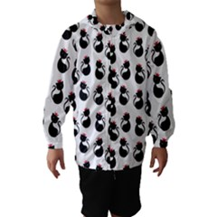 Cat Seamless Animal Pattern Hooded Wind Breaker (kids)