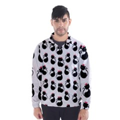 Cat Seamless Animal Pattern Wind Breaker (men)