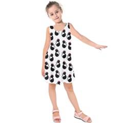 Cat Seamless Animal Pattern Kids  Sleeveless Dress