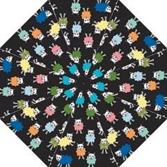 Sheep Cartoon Colorful Straight Umbrellas