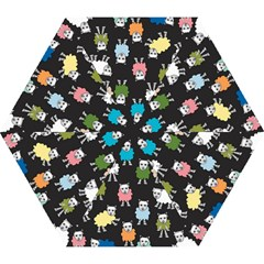 Sheep Cartoon Colorful Mini Folding Umbrellas