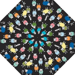 Sheep Cartoon Colorful Golf Umbrellas