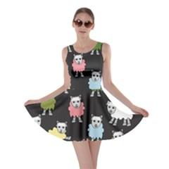 Sheep Cartoon Colorful Skater Dress