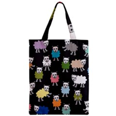 Sheep Cartoon Colorful Zipper Classic Tote Bag