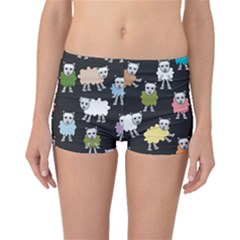 Sheep Cartoon Colorful Boyleg Bikini Bottoms