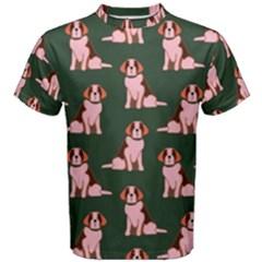 Dog Animal Pattern Men s Cotton Tee