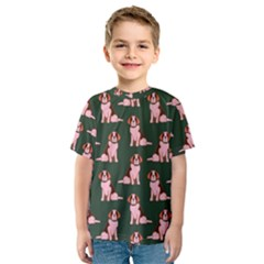 Dog Animal Pattern Kids  Sport Mesh Tee