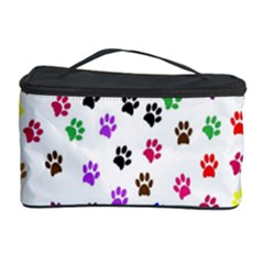 Paw Prints Background Cosmetic Storage Case