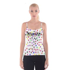 Paw Prints Background Spaghetti Strap Top