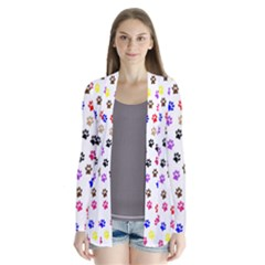 Paw Prints Background Cardigans