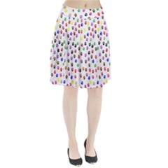 Paw Prints Background Pleated Skirt