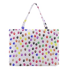 Paw Prints Background Medium Tote Bag