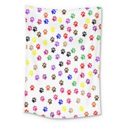 Paw Prints Background Large Tapestry