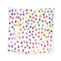 Paw Prints Background Square Tapestry (small)