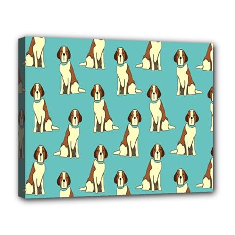 Dog Animal Pattern Canvas 14  X 11