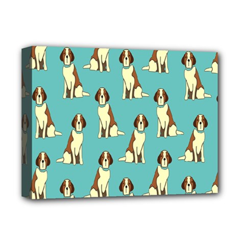 Dog Animal Pattern Deluxe Canvas 16  X 12