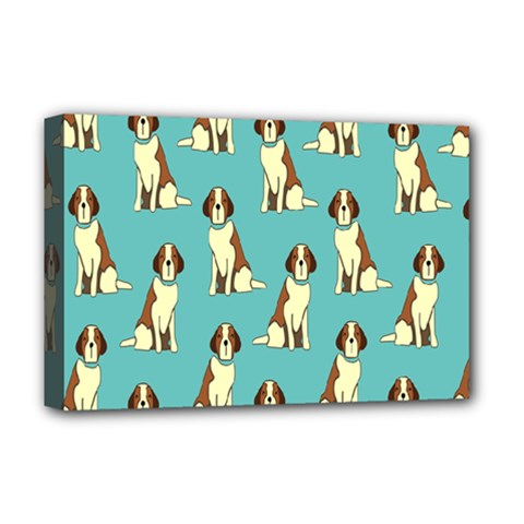 Dog Animal Pattern Deluxe Canvas 18  X 12