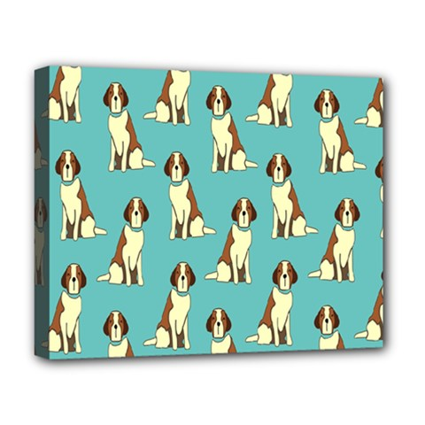 Dog Animal Pattern Deluxe Canvas 20  X 16