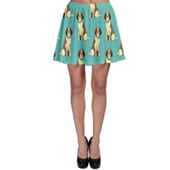 Dog Animal Pattern Skater Skirt