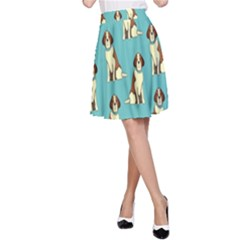 Dog Animal Pattern A Line Skirt