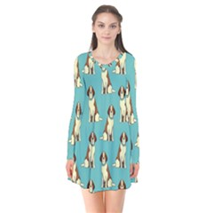 Dog Animal Pattern Flare Dress