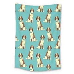 Dog Animal Pattern Large Tapestry
