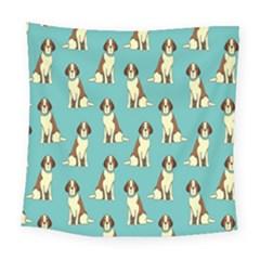 Dog Animal Pattern Square Tapestry (large)