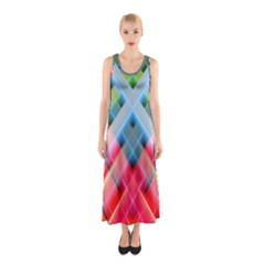 Graphics Colorful Colors Wallpaper Graphic Design Sleeveless Maxi Dress