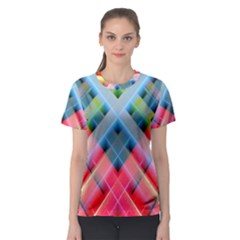Graphics Colorful Colors Wallpaper Graphic Design Women s Sport Mesh Tee