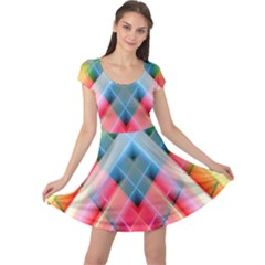 Graphics Colorful Colors Wallpaper Graphic Design Cap Sleeve Dresses