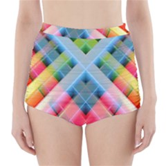Graphics Colorful Colors Wallpaper Graphic Design High Waisted Bikini Bottoms