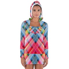 Graphics Colorful Colors Wallpaper Graphic Design Women s Long Sleeve Hooded T Shirt