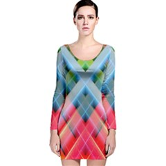 Graphics Colorful Colors Wallpaper Graphic Design Long Sleeve Velvet Bodycon Dress