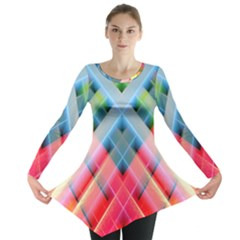 Graphics Colorful Colors Wallpaper Graphic Design Long Sleeve Tunic