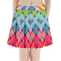 Graphics Colorful Colors Wallpaper Graphic Design Pleated Mini Skirt