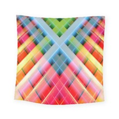 Graphics Colorful Colors Wallpaper Graphic Design Square Tapestry (small)