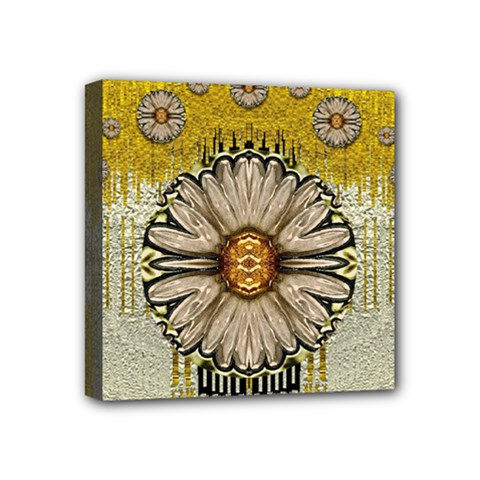 Power To The Big Flower Mini Canvas 4  x 4