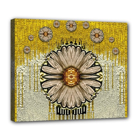 Power To The Big Flower Deluxe Canvas 24  x 20