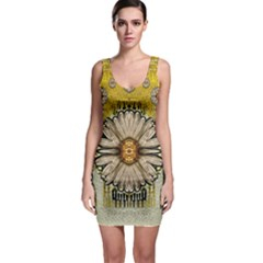 Power To The Big Flower Sleeveless Bodycon Dress