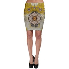 Power To The Big Flower Bodycon Skirt