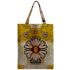 Power To The Big Flower Zipper Classic Tote Bag