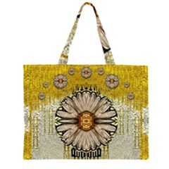 Power To The Big Flower Large Tote Bag